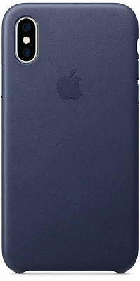 Apple iPhone XS Leather Case - Midnight Blue (MRWN2) - ITMag