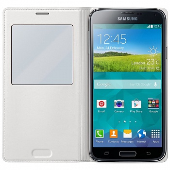 Чехол S View Cover Samsung Galaxy S5 G900H (white) - ITMag