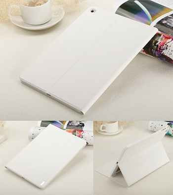 Чехол USAMS Geek Series for iPad Air 2 Magnetic Stand Smart Leather Cover - White - ITMag