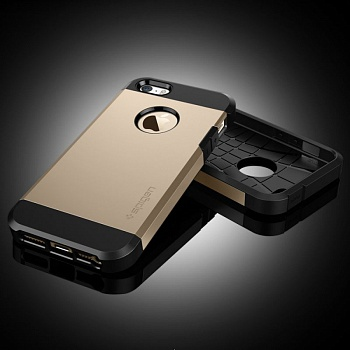 Чехол SGP iPhone 5S/5 Case Slim Armor S Champagne Gold (SGP10604) - ITMag