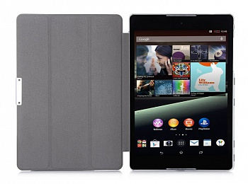 Чехол EGGO Tri-fold Stand Smart Silk Leather Case for HTC Google Nexus 9 (Белый) - ITMag