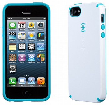 Чехол Speck Products CandyShell Case for iPhone 5/5s - White/Peacock Blue - ITMag