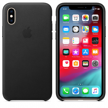 Apple iPhone XS Leather Case - Black (MRWM2) - ITMag