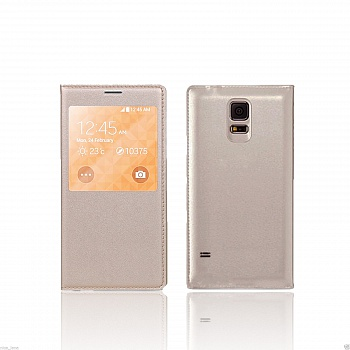 Чехол S View Cover Samsung Galaxy S5 G900H (crema) - ITMag