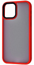 TOTU Shadow Matte Metal Buttons (PC+TPU) iPhone 12/12 Pro (red) - ITMag