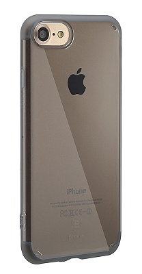 Чехол Baseus Simple Series Case (Anti-Scratch) For iPhone7 Transparent Black (ARAPIPH7-C01) - ITMag