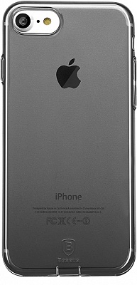 Чехол Baseus Simple Series Case (With-Pluggy) For iPhone7 Transparent Black (ARAPIPH7-A01) - ITMag
