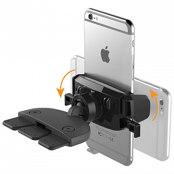 IOttie Easy One Touch Mini CD Slot Universal Car Mount Holder Cradle Black (HLCRIO123) - ITMag