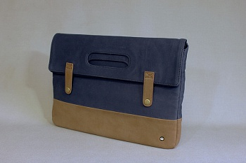 "PKG Primary Collection Grab Bag Sleeve Brown/Navy Denim for MacBook Air/Pro 13"" (PKG GB113-BRND) - ITMag"