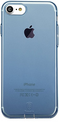 Чехол Baseus Simple Series Case (With-Pluggy) For iPhone7 Transparent Blue (ARAPIPH7-A03) - ITMag