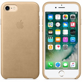 Apple iPhone 7 Leather Case - Tan MMY72 - ITMag