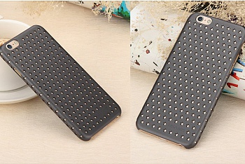 Чехол USAMS Starry Series for iPhone 6/6S Hollow Stars Plastic Hard Case - Black - ITMag