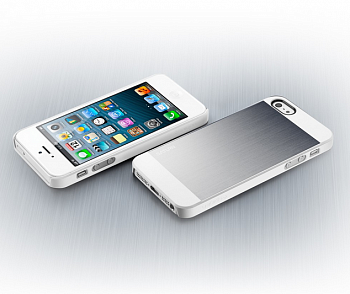 Чехол-накладка SGP Case Saturn Satin Silver for iPhone 5/5S (SGP10141) - ITMag