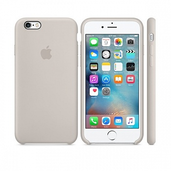 Apple iPhone 6s Silicone Case - Stone MKY42 - ITMag