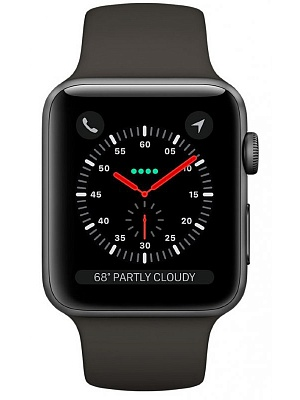 Apple Watch Series 3 GPS 42mm Space Gray Aluminum w. Gray Sport B. - Space Gray (MR362) - ITMag