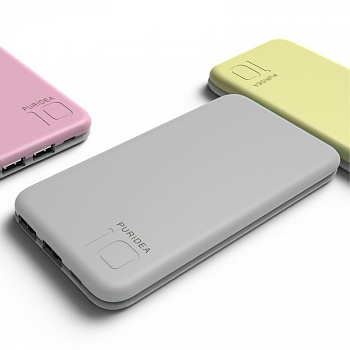 Power Bank PURIDEA S2 10000mAh Li-Pol Серый & Белый (S2-Grey White) - ITMag