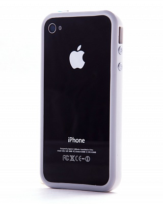 Apple iPhone 4/4s Bumper white - ITMag