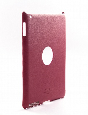 Ультратонкая накладка SGP iPad 2 Leather Case Griff Series Dante Red - ITMag