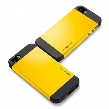 Чехол SGP iPhone 5S/5 Case Slim Armor S Reventon Yellow (SGP10368) - ITMag