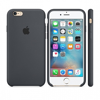 Apple iPhone 6s Silicone Case - Charcoal Gray MKY02 - ITMag