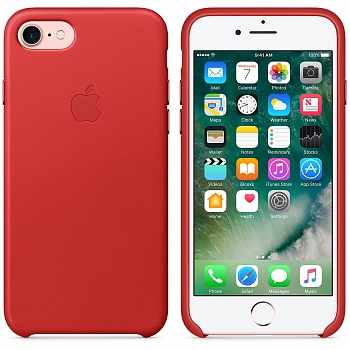 Apple iPhone 7 Leather Case - (PRODUCT)RED MMY62 - ITMag