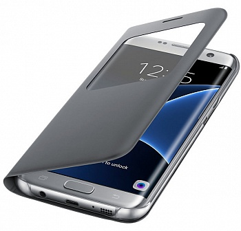 Samsung S View Cover Galaxy S7 Edge Silver (EF-CG935PSEGRU) - ITMag