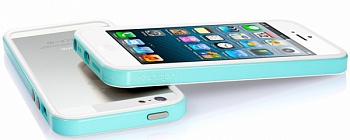 Бампер SGP Neo Hybrid EX Slim Snow Series для Apple iPhone 5/5S (+ пленка) (Бирюзовый / Mint) - ITMag
