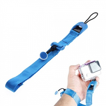 Крепление EGGO на руку Quick Release Cuff Wrist Strap Band for GoPro Hero 4/3+/3/2/1 - Blue - ITMag