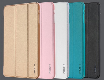 Кожаный чехол (книжка) Rock Uni Series для Apple IPAD mini (RETINA)/Apple IPAD mini 3 (Золотой / Gold) - ITMag