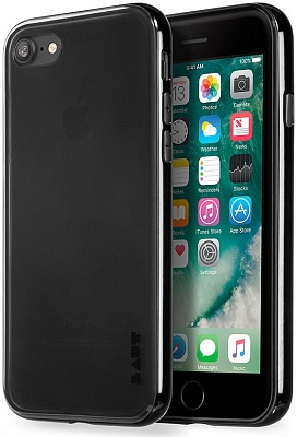 Бампер LAUT EXO-FRAME Aluminium bampers для iPhone 7 - Matt Black (LAUT_IP7_EX_BK) - ITMag
