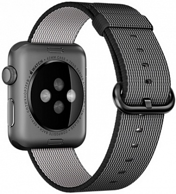 Apple Watch Sport 42mm Space Gray Aluminum Case with Black Woven Nylon (MMFR2) - ITMag
