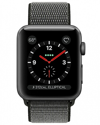 Apple  Watch Series 3 GPS + Cellular 42mm Space Gray Aluminum w. Dark Olive Sport L. (MQK62) - ITMag
