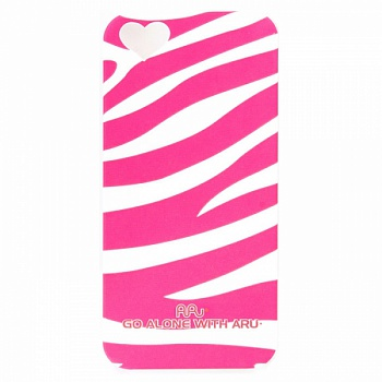 Чехол ARU для iPhone 5S Zebra Stripe Pink - ITMag