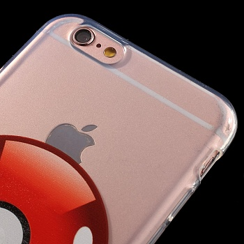 TPU чехол EGGO Pokemon Go для iPhone 6 Plus/6S Plus (Poke Ball (прозрачный)) - ITMag