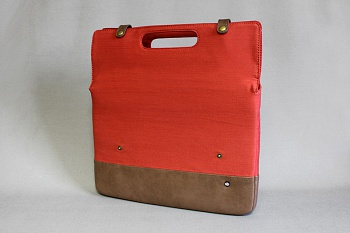 "PKG Primary Collection Grab Bag Sleeve Brown/Mango Denim for MacBook Air/Pro 13"" (PKG GB113-BRMD) - ITMag"
