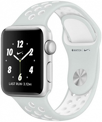Apple Watch Nike+ 38mm Silver Aluminum Case with Pure Platinum/White Nike Sport Band (MQ172) - ITMag