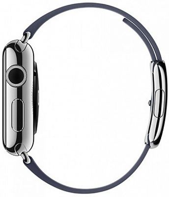 Apple Watch Series 2 38mm Stainless Steel Case with Midnight Blue Modern Buckle Band (MNP82) - ITMag