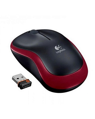 Logitech M185 Wireless Mouse (Red) - ITMag
