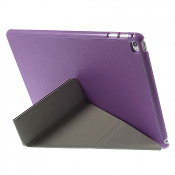 Чехол EGGO для iPad Air 2 Cross Texture Origami Stand Folio - Purple - ITMag