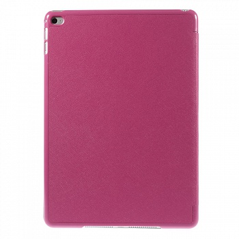 Чехол EGGO для iPad Air 2 Cross Texture Origami Stand Folio - Rose - ITMag