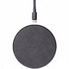 Зарядное устройство Decoded Wireless Fast Charger Leather Pad 10W Black Metal/Black (D8WC1BK) - ITMag