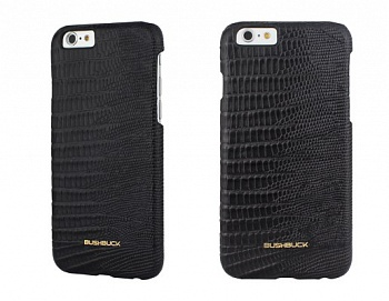 Чехол Bushbuck BARONAGE LIZARD Genuine Leather for iPhone 6/6S (Black) - ITMag