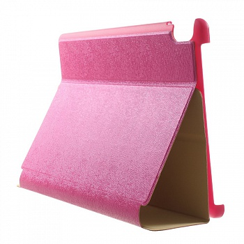Чехол EGGO Tri-fold Stand Pattern Leather Case for Lenovo IdeaTab A7600 (Розовый) - ITMag