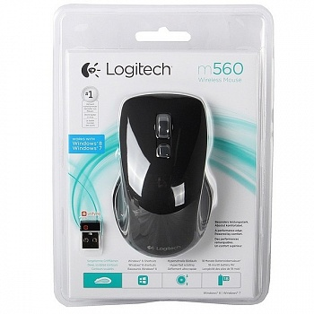 Logitech M560 Wireless Mouse black (910-003883) - ITMag