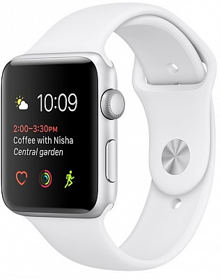 Apple Watch Series 1 38mm Silver Aluminum Case with White Sport Band (MNNG2) - ITMag