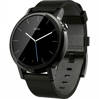 Motorola Moto 360 2nd Gen. Men's Smartwatch 42mm Steel - Black Leather (00903NARTL) - ITMag