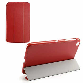 Чехол Crazy Horse Slim Leather Case Cover Stand for Samsung Galaxy Tab 3 8.0 T3100/T3110 Red - ITMag