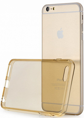 "TPU чехол ROCK Slim Jacket для Apple iPhone 6/6S (4.7"") (Золотой / Transparent Gold) - ITMag"