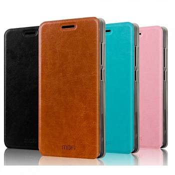 Чехол MOFI Rui Series Folio Leather Stand Case для Lenovo A916 (Бирюзовый/Blue) - ITMag