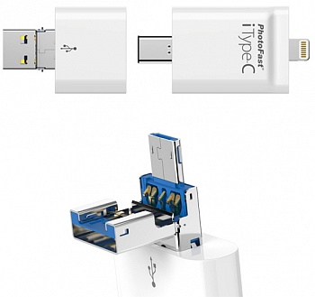 Флешка PhotoFast 4-in-1 i-FlashDrive iTypeC 128GB (iTypeC128GB) - ITMag